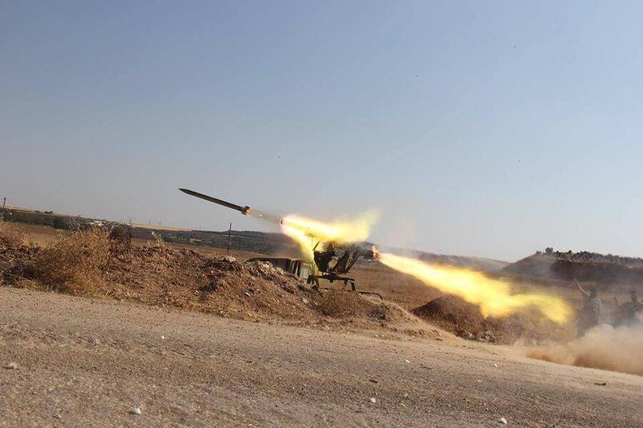 پایگاه نظامی آمریکا در صلاح الدین عراق هدف موشک قرار گرفت