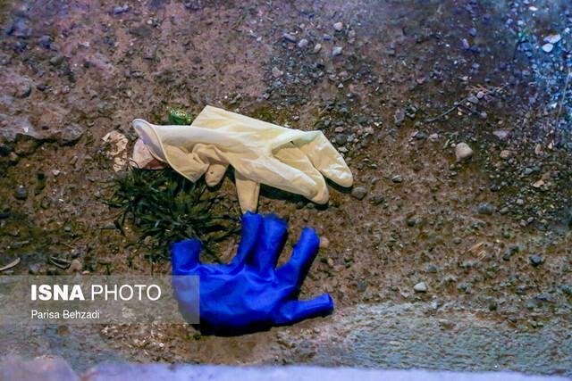 ماسک و دستکش های مستعمل را وکیوم شده در مخازن زباله بیندازید