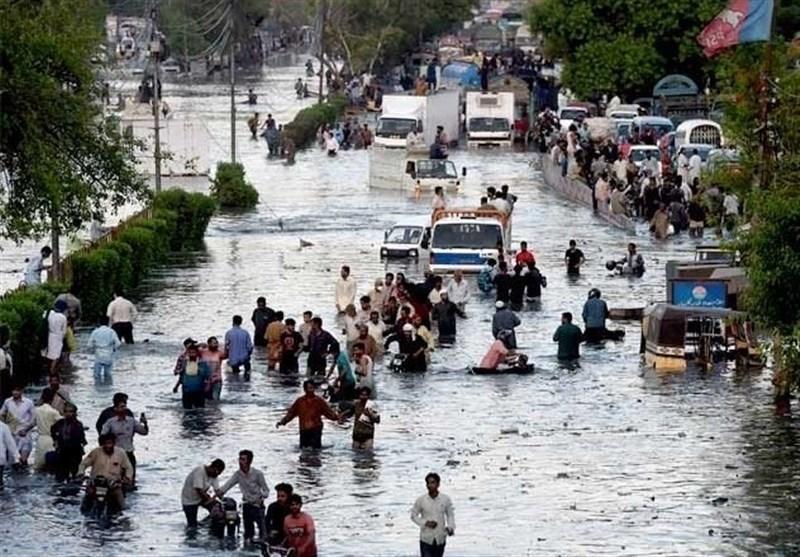 بارش های شدید موسمی در شهر کراچی و بروز سیل