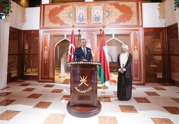 چاووش اوغلو: همکاری های ترکیه و عمان در حوزه نظامی افزایش خواهد یافت