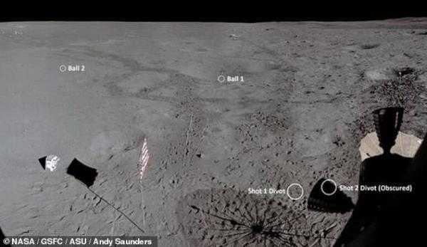 توپ گمشده گلف در ماه پیدا شد