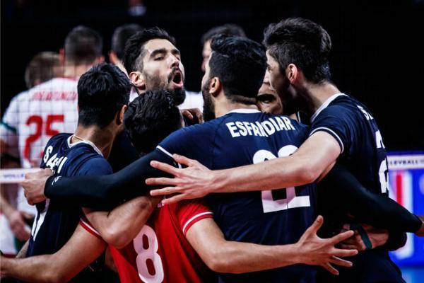 پیروزی قاطع تیم ملی والیبال مقابل بلغارستان، ایران روی نوار برد