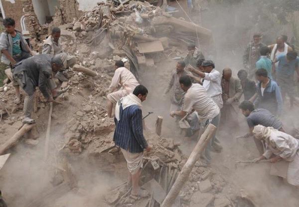 خبرنگاران حمله جنگنده های ائتلاف سعودی به تجمع روز قدس یمنی ها