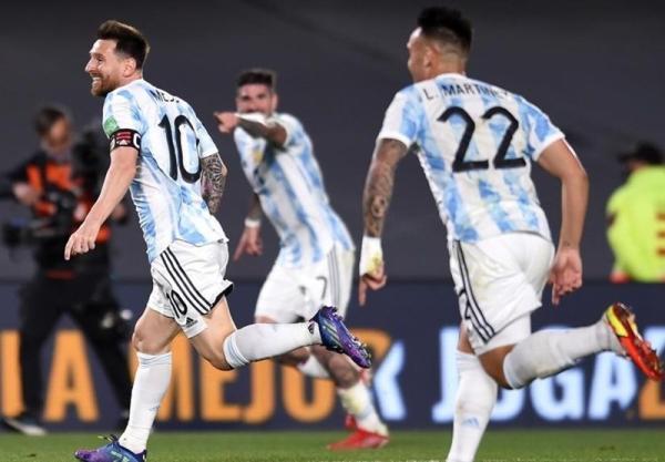 تور برزیل: انتخابی جام جهانی 2022، پیروزی قاطع آرژانتین مقابل اروگوئه با گلزنی مسی، برزیل انتها متوقف شد